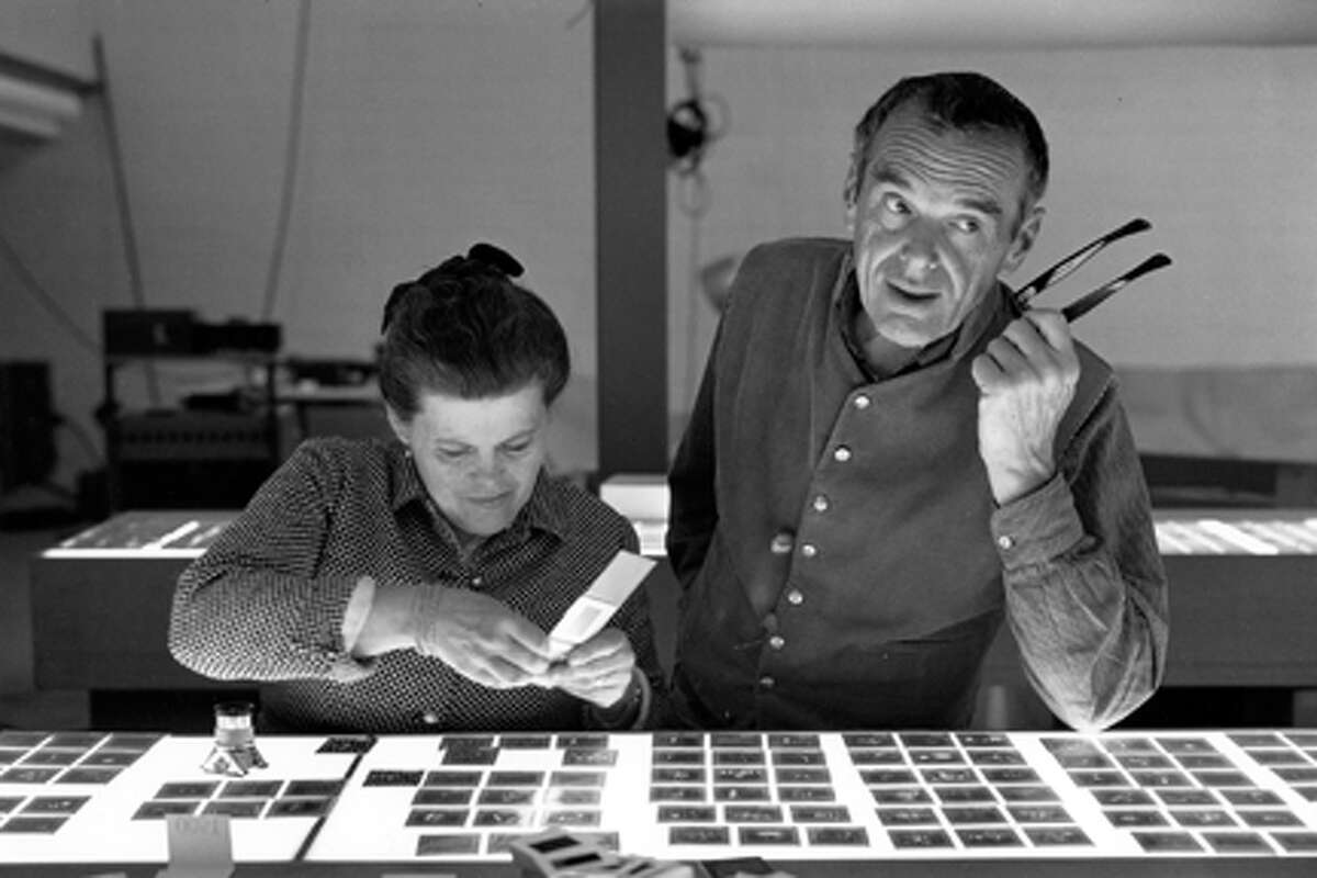 Ray Eames and Charles Eames as seen in