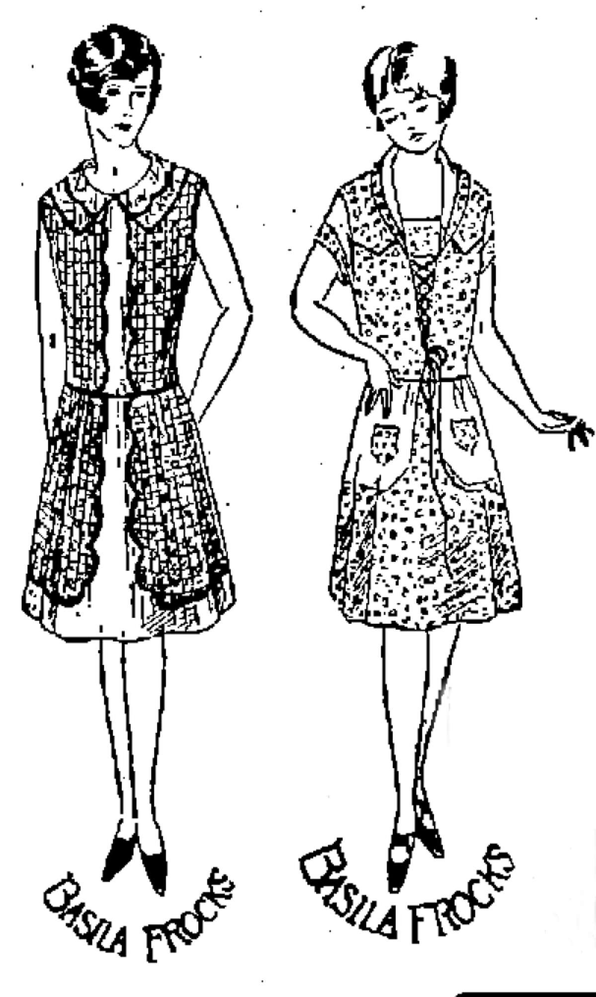A 1928 ad for Basila Frocks from the San Antonio Express.