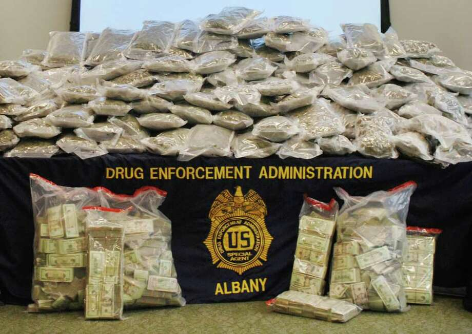 "Authorities said they seized nearly 400 pounds of pot from a truck driven by former mountain biking world champion Melissa ""Missy"" Giove and, and from Eric Canori's home outside Saratoga Springs. (U.S. Depatment of Justice)   Times Union"