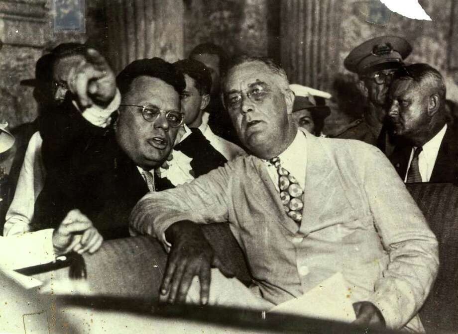 Former San Antonio congressman, Maury Maverick Sr., and President Franklin Roosevelt on a visit to to San Antonio in 1936. Photo: COURTESY MAVERICK FAMILY / Maverick Family files