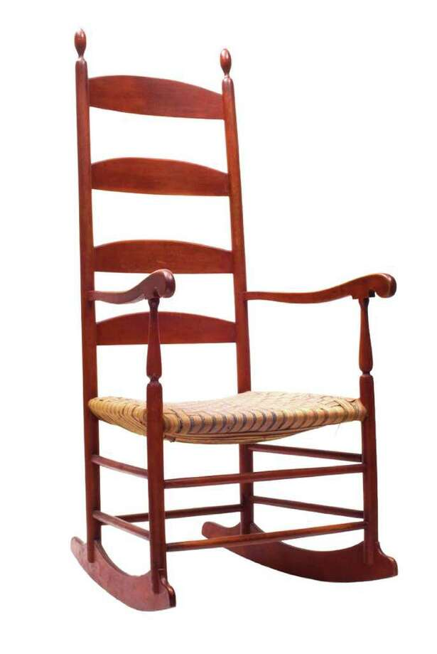 Shakers From The Enfield, N.H., Community Probably Made This Rocking Chair  With Typical Shaped