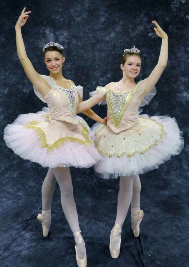 "Kelsey Warkentin, left, and Mary Kate Connolly, both of Fairfield, each will appear as the Sugar Plum Fairy in the  Connecticut Dance Schoolís production of ""The Nutcracker"" Dec. 11 at Fairfield Universityís Quick Center for the Arts. Photo: Contributed Photo / Fairfield Citizen contributed"