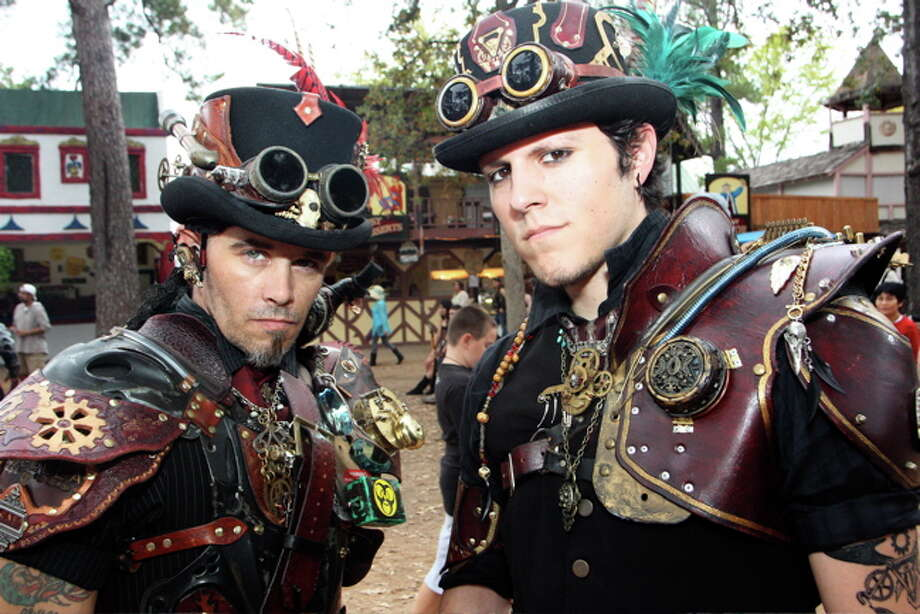 Cedric Whitaker, left, and Lazuli Delacru (cq) at Texas Renaissance Festival, Nov. 20, 2011 Photo: Jordan Graber