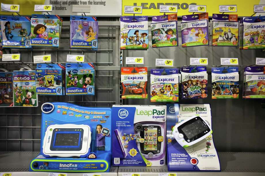 LeapFrog, LeapPad, and VTech toys for kids at BestBuy are hot toys for the holidays,Tuesday, Nov. 22, 2011, in Houston. Photo: Michael Paulsen, Houston Chronicle / Houston Chronicle