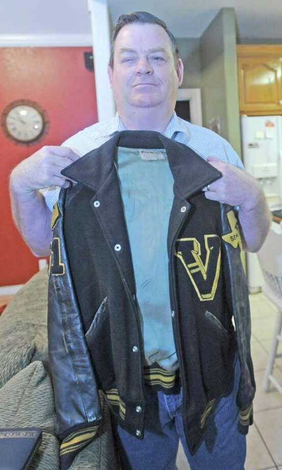 Ivan Sellers was on the 1964 Vidor football team which was the last team to make it as far as this year's team. Sellers, an offensive and defensive lineman on the team, and still has his letter jacket.   Sellers is now legally blind and lives in Vidor.  Dave Ryan/The Enterprise Photo: Dave Ryan