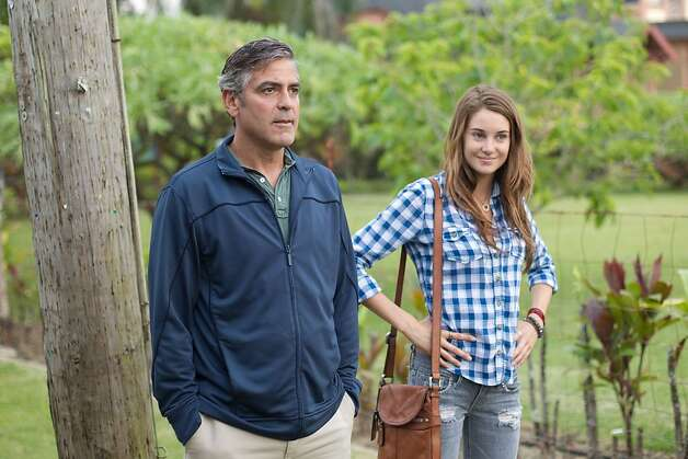 "In this image released by Fox Searchlight Films, George Clooney, left, and Shailene Woodley are shown in a scene from ""The Descendants."" (AP Photo/Fox Searchlight Films, Merie Wallace) Photo: Merie Wallace, AP"