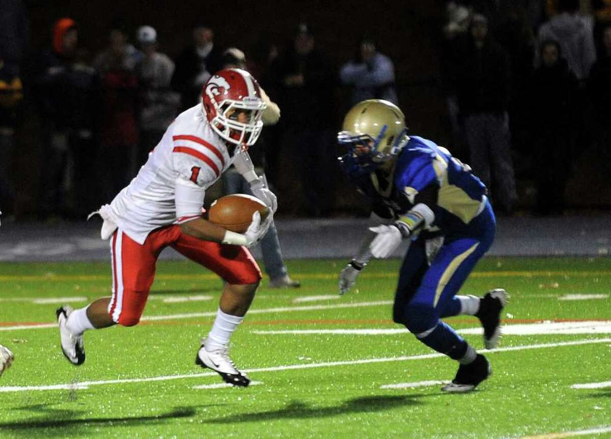 Highlights from boys football action between Masuk and Newtown in Newtown, Conn. on Wednesday November 23, 2011.