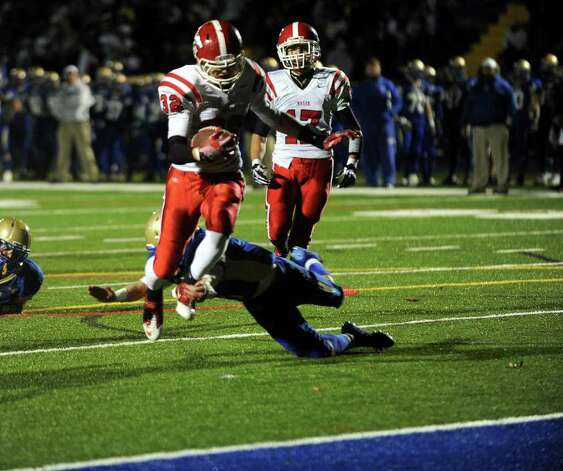 Highlights from boys football action between Masuk and Newtown in Newtown, Conn. on Wednesday November 23, 2011. Photo: Christian Abraham / www.connpost.com