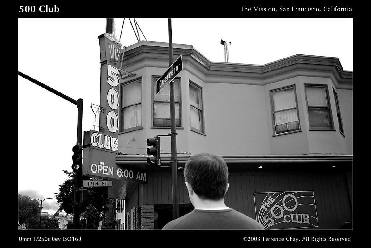 The 500 Club-A classic Mission hipster hangout with old-time booth seats, a jukebox, and stiff drinks. 500 Club 500 Club, The Mission, San Francisco, California Leica M8, Zeiss Biogon 2,8/25 ZM B+W 386 UV IR cut filter Aperture 2.0 (straighten, exposure, enhance. highlights/shadows, monochrome mixer, vignette) 1/250sec, iso160, 25mm (33mm) ____________________________________________________ Lazy Memorial Day. We walked to the 500 club but it was empty that day. Eventually we ended up at Zeitgeist.