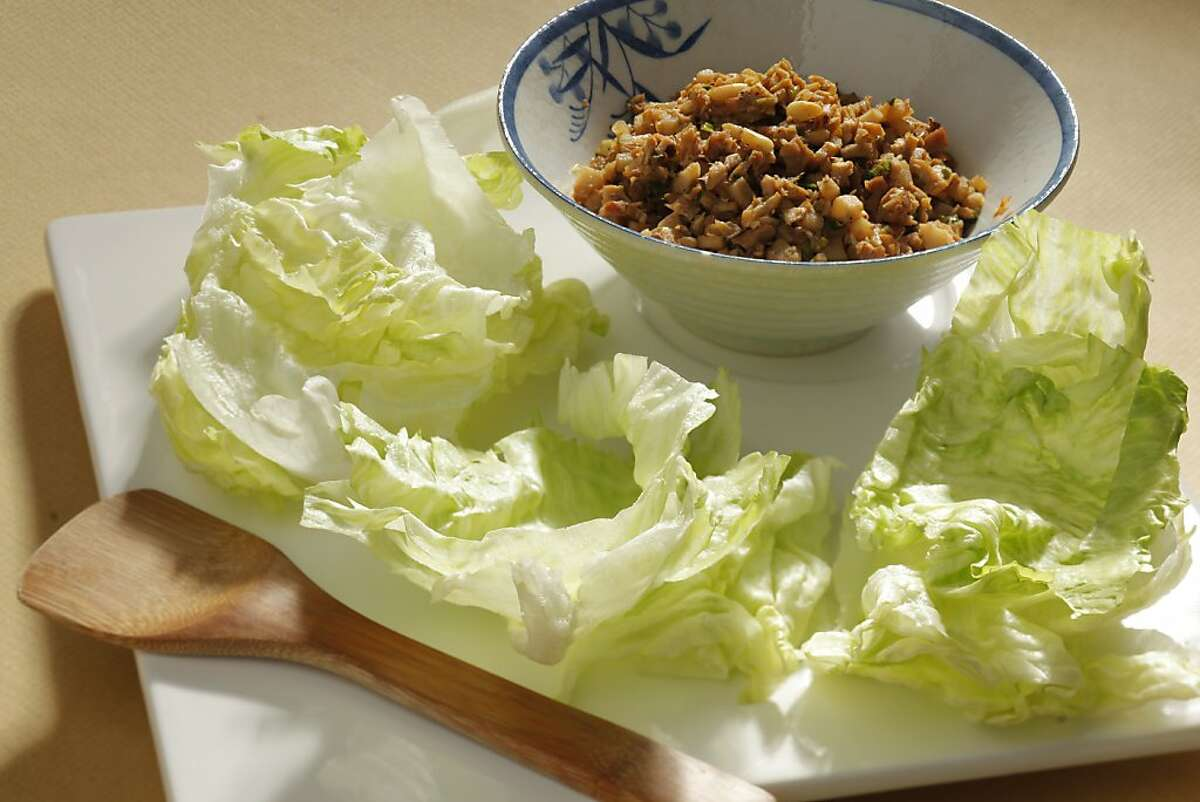 Minced turkey with lettuce cups as seen in San Francisco, California, on Wednesday, November 16, 2011. Food styled by Amanda Gold.