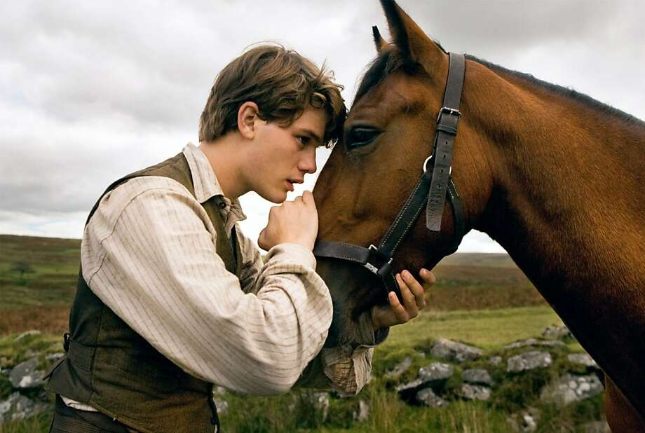 "Albert (Jeremy Irvine) and his horse Joey are featured in this scene from DreamWorks Pictures' ""War Horse"", director Steven Spielberg's epic adventure and an unforgettable odyssey through courage, friendship, discovery and wonder.    Ran on: 11-20-2011 Jeremy Irvine in &quo;War Horse.&quo;."