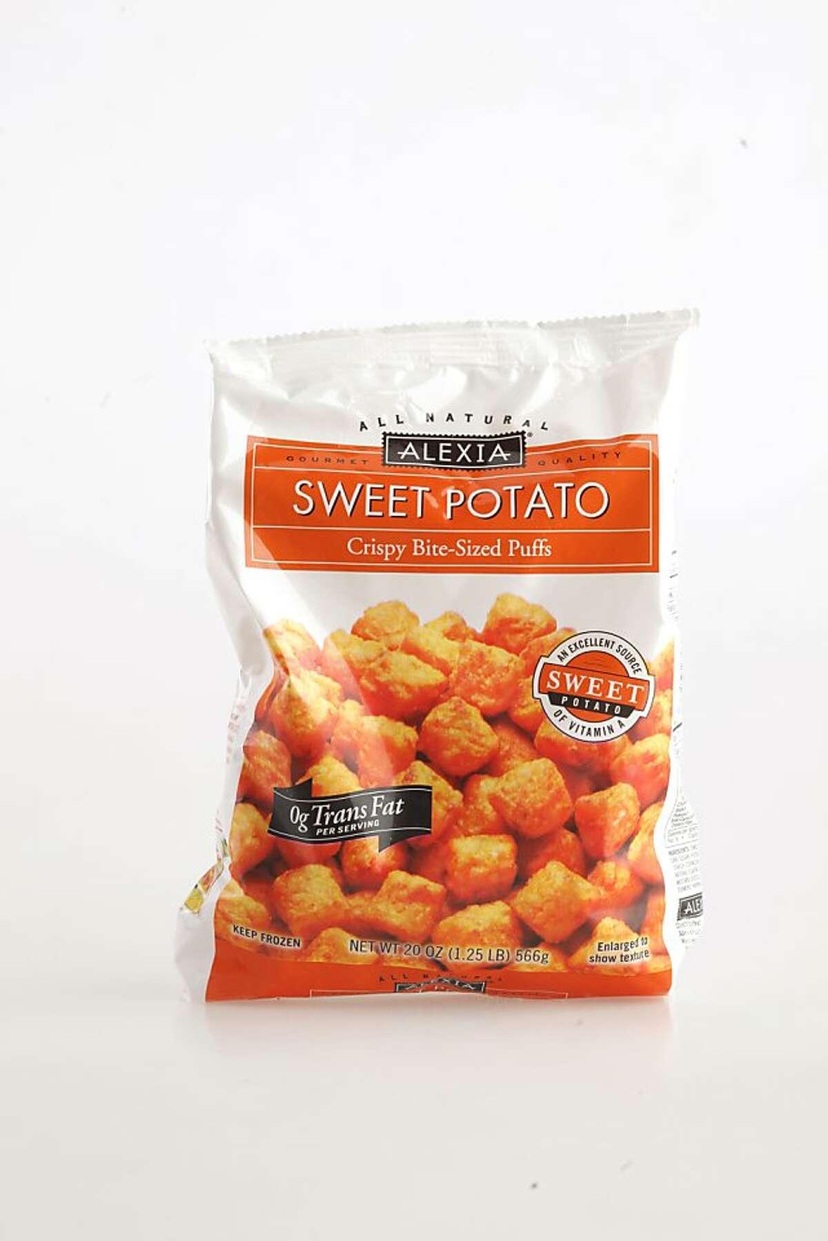 """""""Alexia"""" Sweet Potato Puffs, 20 oz bag, frozen to oven as seen in San Francisco, California, on Wednesday, November 16, 2011."""