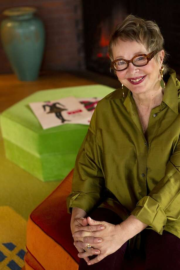 Jeanne Allen, leader of the new San Francisco Fashion Incubator program, and one half of the SF design team, JeanneMarc, of the 70's, 80's and 90's, sits in the living room of her Frank Lloyd Wright home in the Berkeley hills Friday afternoon, November 11, 2011. Photo: Erin Lubin, Special To The Chronicle
