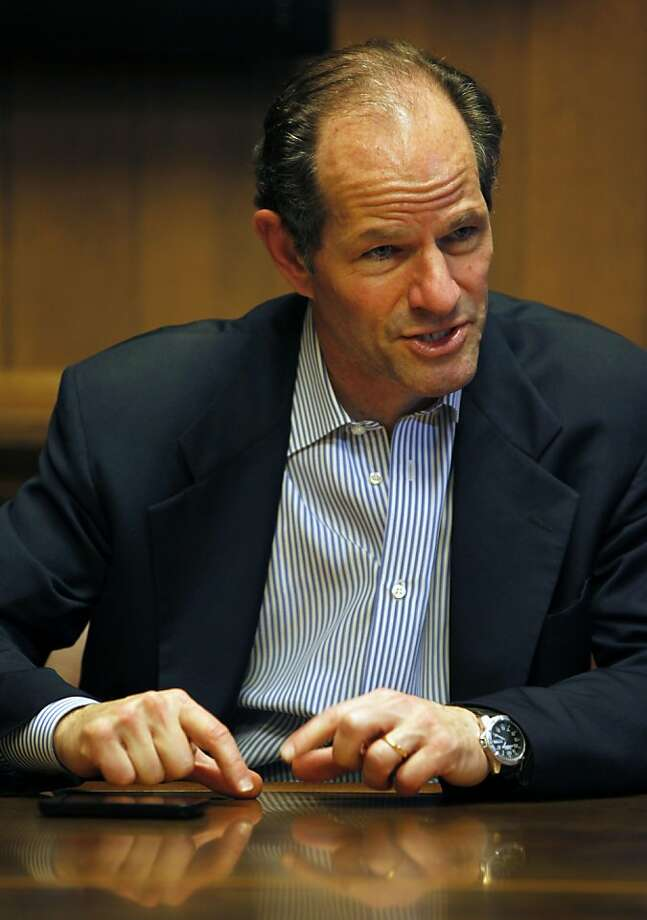Former NY Governor and State Attorney General Eliot Spitzer talks to the San Francisco Editorial board Wednesday November 16, 2011 Photo: Lance Iversen, The Chronicle