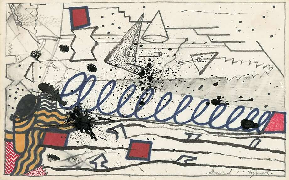 Untitled, undated drawing in mixed media on paper by David Lynch Photo: Unknown, Fondation Cartier De L'art Cont.