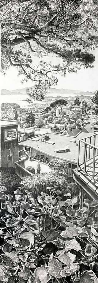 """""""Fiesta"""" (2009) graphite on paper by Richard Ambrose Photo: Unknown, Hespe Gallery, S.f."""