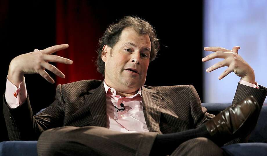 """Marc Benioff, chief executive officer of Salesforce.com, speaks at the Web 2.0 Summit in San Francisco, California, U.S., on Wednesday, Nov. 17, 2010. This year's conference, which concludes today, is titled """"Points of Control: The Battle for the Network Economy."""" Photographer:Photographer: Tony Avelar/Bloomberg *** Local Caption *** Marc Benioff  Ran on: 12-08-2010 Mark Benioff, CEO of Salesforce.com, wants to expand the company to extend its stock rally.   Ran on: 04-12-2011 Salesforce.com CEO Marc Benioff will host President Obama's Victory Fund dinner. Photo: Tony Avelar, Bloomberg"""