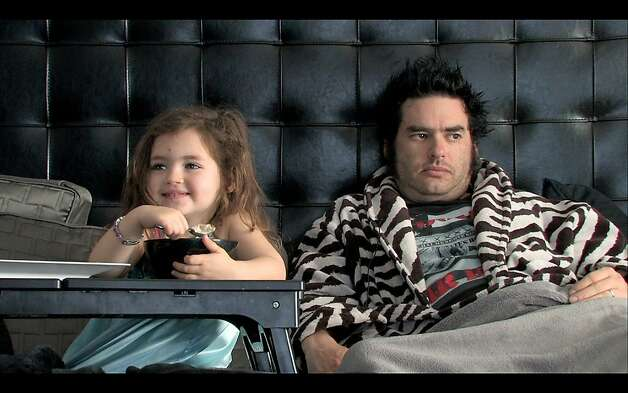 Still from THE OTHER F WORD of Fat Mike (NOFX) and daughter. Photo: Courtesy Of Oscilloscope Laborat