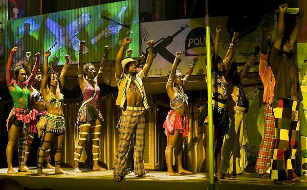 The cast of Fela which comes to SHN's Curran Theatre in November 2011    Ran on: 08-03-2011 &quo;Fela!&quo; won three Tony Awards, including best choreography for Bill T. Jones, who also directed and conceived the show about Nigerian musician and activist Fela Anikulapo-Kuti. Photo: Monique Carboni