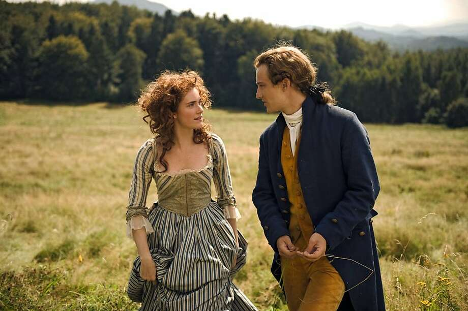 "Lotte Buff (Miriam Stein) and Johann Goethe (Alexander Fehling) in, ""Young Goethe in Love."" Photo: Music Box Films"
