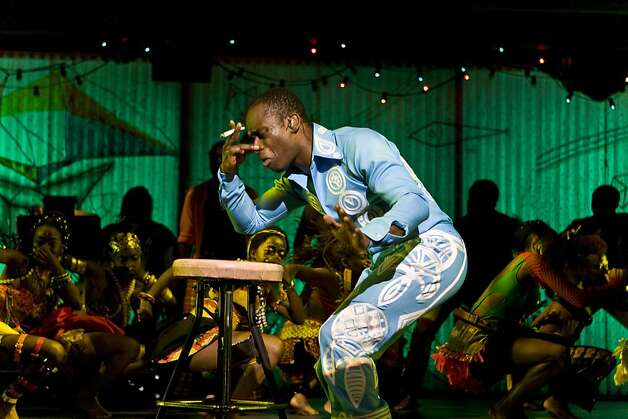Sahr Ngaujah  with a joint in the title role of Fela Photo: Monique Carboni