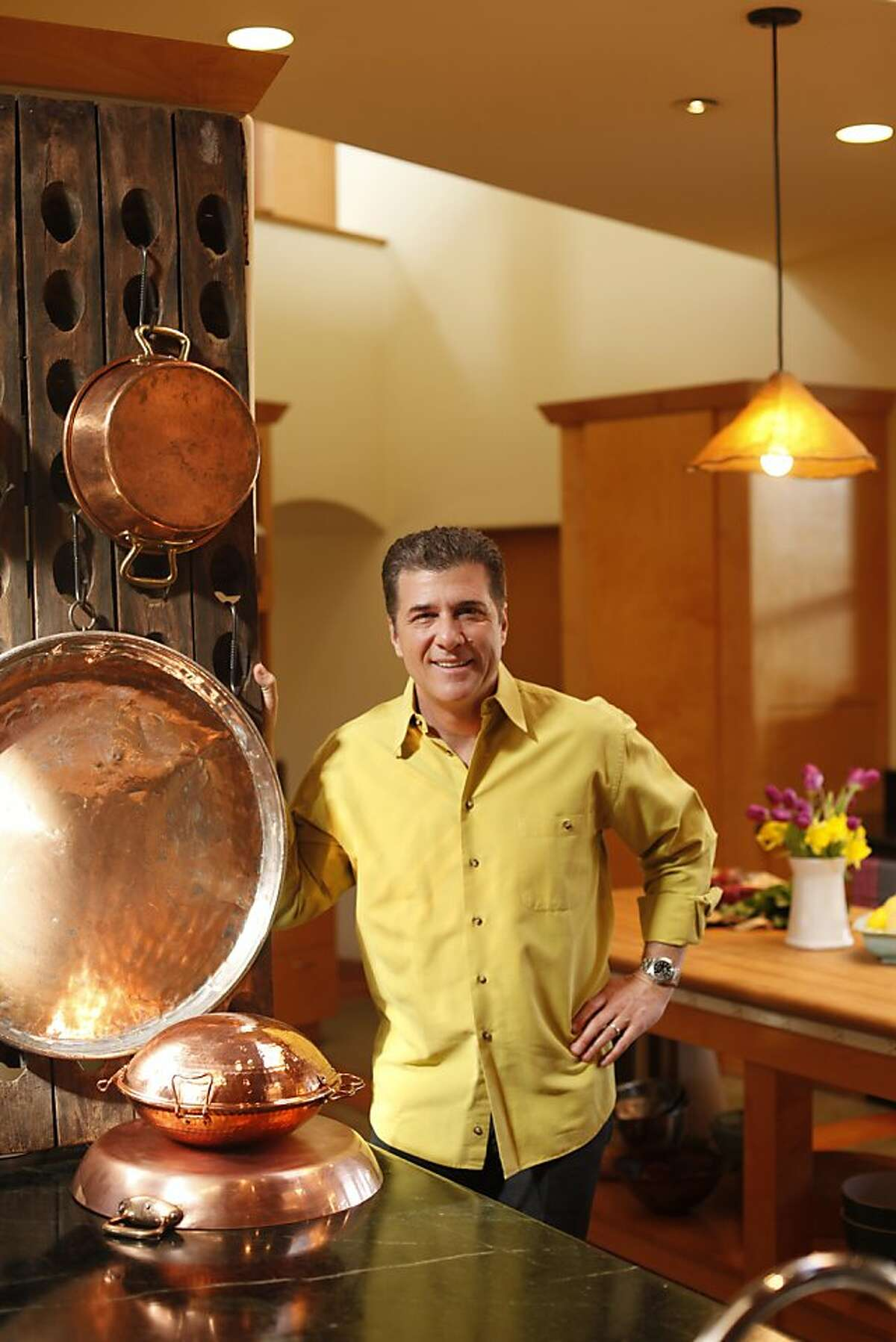 The home kitchen of Michael Chiarello in St. Helena, California, on Tuesday, April 5, 2011.