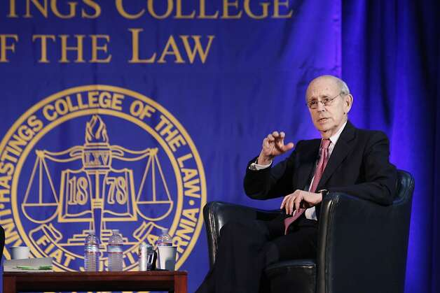 Supreme Court Justice Stephen Breyer at UC Hastings School of Law on Wednesday, Nov. 16, 2011. Photo: Jim Block, UC Hastings College Of The Law