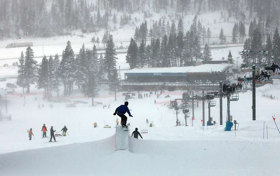 Boreal ski resort opens today for the start of the season near Truckee, Calif., on Monday, November 22, 2010. Photo: Liz Hafalia, The Chronicle