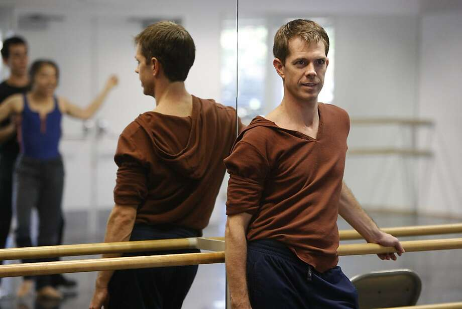 Choreographer Dominic Walsh watches dancers during a rehearsal for his upcoming production, Le Spectre de la Rose, at Diablo Ballet Shadelands Studios in Walnut Creek, Calif., on Tuesday, Nov. 1, 2011. Photo: Dylan Entelis, The Chronicle