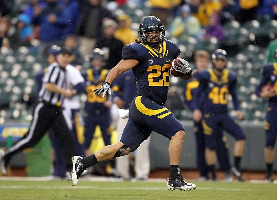 SAN FRANCISCO, CA - NOVEMBER 05: Will Kapp #22 of the California Golden Bears runs in for a touchdown against the Washington State Cougars  at AT&T Park on November 5, 2011 in San Francisco, California.  (Photo by Ezra Shaw/Getty Images) Photo: Ezra Shaw, Getty Images