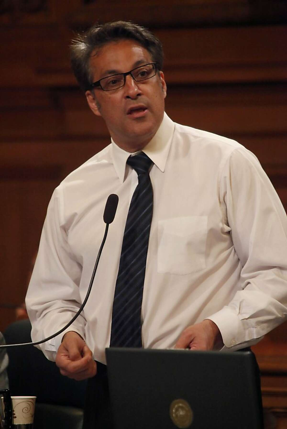 Supervisor Ross Mirkarimi speaks during the San Francisco Board of Supervisors meeting at City Hall in San Francisco, Calif. on Tuesday May 4, 2010. Ran on: 06-08-2010 Supervisor Ross Mirkarimi plans to introduce a resolution supporting the public power contract. Ran on: 08-03-2010 Supervisor Ross Mirkarimi plans to introduce legislation today to expand the bag ban. Ran on: 11-22-2010 Photo caption Dummy text goes here. Dummy text goes here. Dummy text goes here. Dummy text goes here. Dummy text goes here. Dummy text goes here. Dummy text goes here. Dummy text goes here.###Photo: Drugs22_ph11272758400SFC###Live Caption:Supervisor Ross Mirkarimi speaks during the San Francisco Board of Supervisors meeting at City Hall in San Francisco, Calif. on Tuesday May 4, 2010.###Caption History:Supervisor Ross Mirkarimi speaks during the San Francisco Board of Supervisors meeting at City Hall in San Francisco, Calif. on Tuesday May 4, 2010. ____Ran on: 06-08-2010__Supervisor Ross Mirkarimi plans to introduce a resolution supporting the public power contract.____Ran on: 08-03-2010__Supervisor Ross Mirkarimi plans to introduce legislation today to expand the bag ban.###Notes:###Special Instructions:**MANDATORY CREDIT FOR PHOTOG AND SF CHRONICLE-NO SALES-MAGS OUT-TV OUT-INTERNET: AP MEMBER NEWSPAPERS ONLY** Ran on: 11-22-2010 Photo caption Dummy text goes here. Dummy text goes here. Dummy text goes here. Dummy text goes here. Dummy text goes here. Dummy text goes here. Dummy text goes here. Dummy text goes here.###Photo: Drugs22_ph11272758400SFC###Live Caption:Supervisor Ross Mirkarimi speaks during the San...
