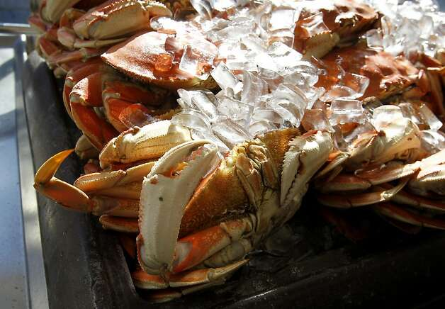 Currently the only crab being sold at Fisherman's Wharf is from Washington state. All along the San Francisco waterfront, crab fisherman are waiting for the word to begin setting their pots. Photo: Brant Ward, The Chronicle