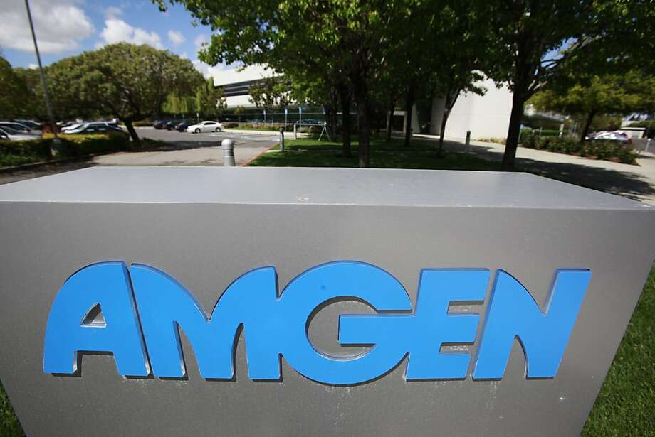 FILE - This April 20, 2010 file photo shows an exterior view of Amgen offices in Fremont, Calif. Amgen Inc. says its third-quarter profit plunged by more than 60 percent, partly because of a $780 million charge to set aside money to settle an investigation of its marketing practices, according to reports Monday, Oct. 24, 2011. The company also had higher costs for administration and production. (AP Photo/Paul Sakuma, File) Photo: Paul Sakuma, AP
