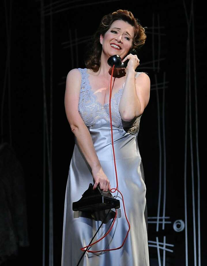"Soprano Suzan Hanson in Poulenc's ""La voix humaine"" at Opera San Jose Photo: P. Kirk"