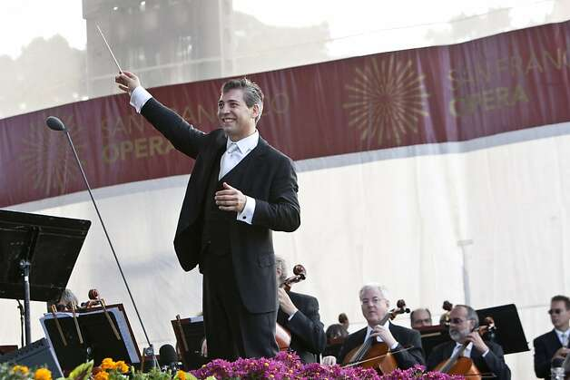 Nicola Luisotti, Music Director of San Francisco Opera, conducts during Opera in the Park in Golden Gate Park in San Francisco, Calif. on Sunday, September 12, 2010. Photo: Laura Morton, Special To The Chronicle