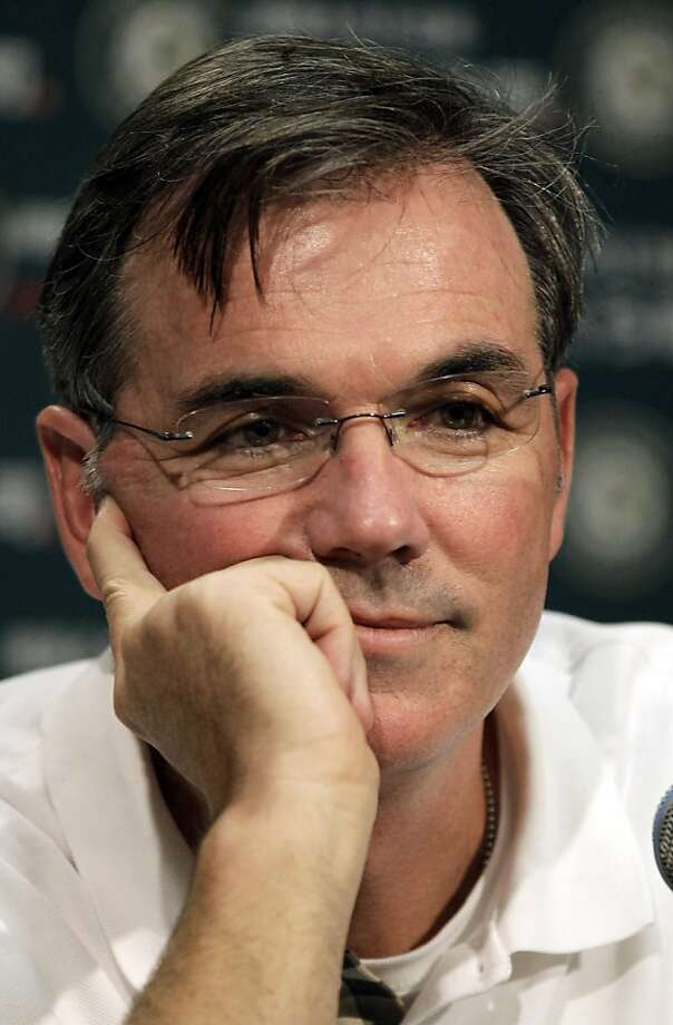 ADVANCE FOR WEEKEND EDITIONS, OCT. 1-2 - FILE - In this Sept. 21, 2011, file phot, Oakland Athletics general manager Billy Beane ponders a question during a news conference in Oakland, Calif. You have to admire Beane, who, in a sport that resists change, used an overlooked statistic as a basis for building a winning team in a market where most would agree it was almost impossible.  (AP Photo/Ben Margot, File)  Ran on: 10-04-2011 Billy Beane: Will Red Sox or Angels call? Ran on: 10-04-2011 Billy Beane: Will Red Sox or Angels call? Photo: Ben Margot, AP