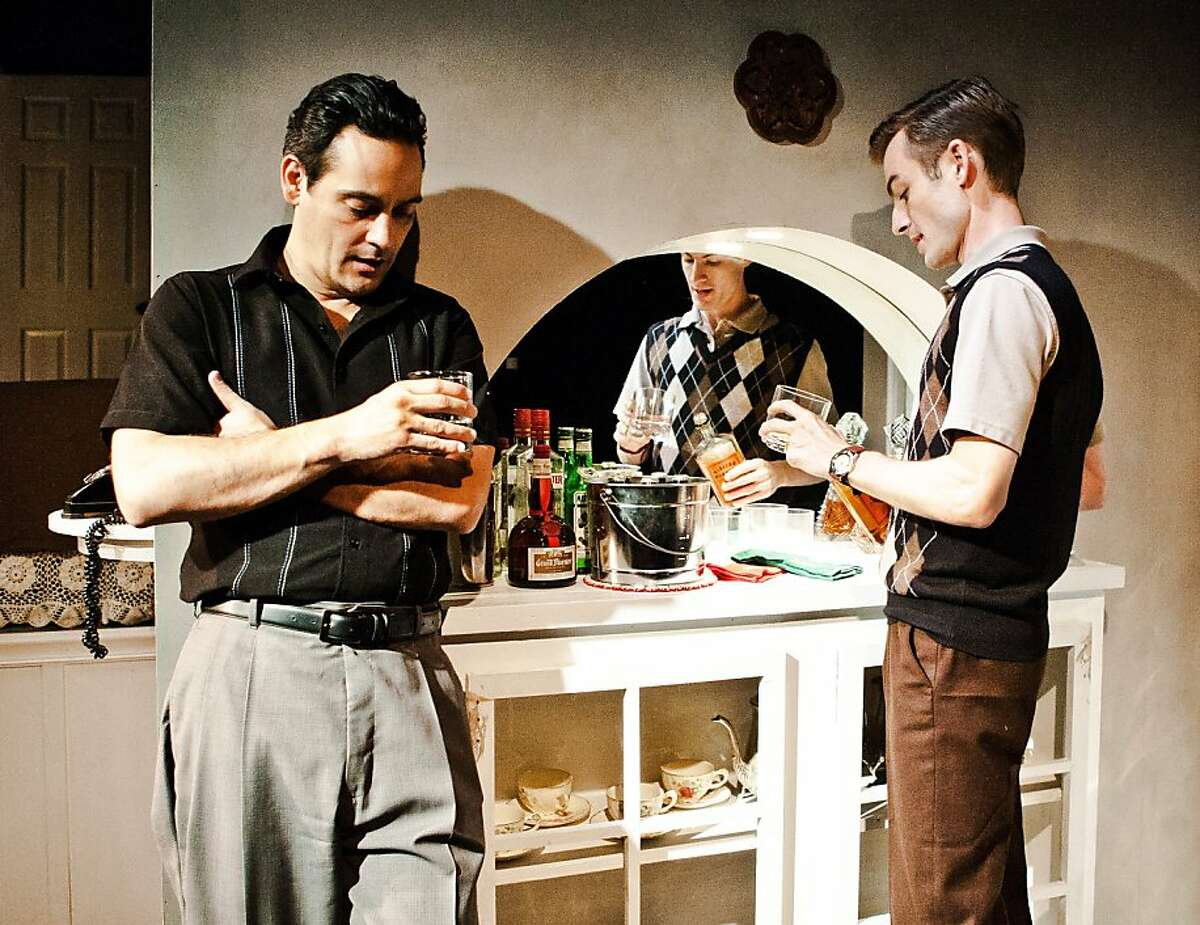 War buddies Ralph (Johnny Moreno, left)) and George (Patrick Alparone) reminisce about the Korean War in Tennessee Williams'