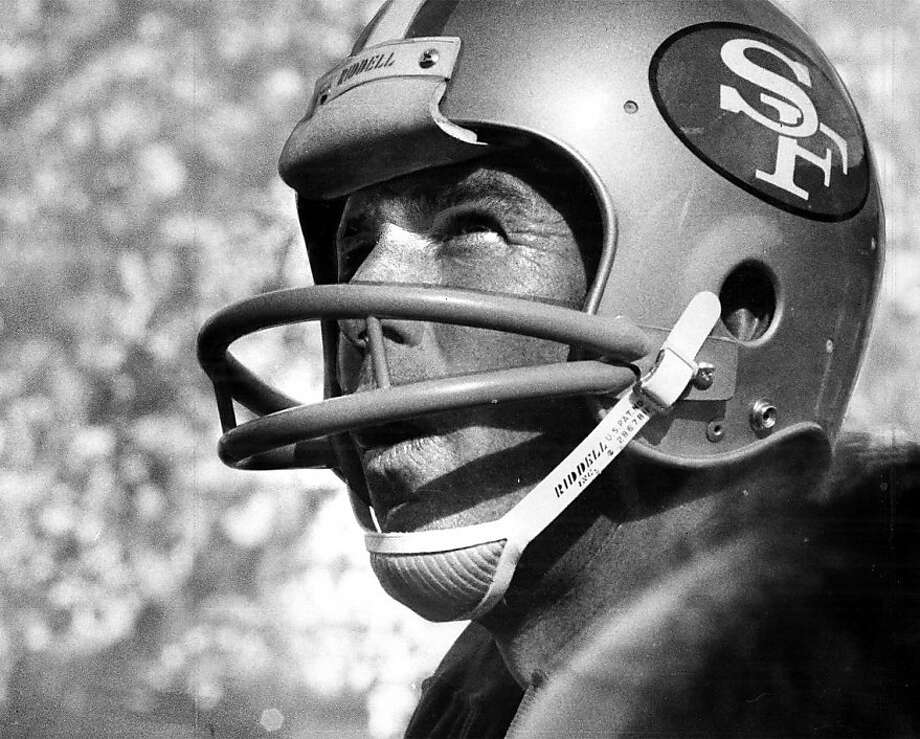 John Brodie was Bay Area through and through. The Menlo Park native attended Oakland Tech, Stanford and then quarterbacked for the 49ers. Photo: SFC