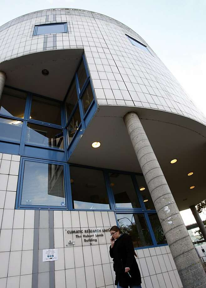 "FILE - This is a  Dec. 10, 2009 file photo showing  the Climatic Research Unit at the University of East Anglia in Norwich, England. East Anglia, where stolen emails caused a global climate science controversy in 2009 says those behind the breach have apparently released a second and potentially far larger batch of old messages. University of East Anglia spokesman Simon Dunford said that while academics didn't have the chance yet to examine the roughly 5,000 emails apparently dumped into the public domain Tuesday, Nov. 22, 2011 a small sample examined by the university ""appears to be genuine."" (AP Photo/Kirsty Wigglesworth, File) Photo: Kirsty Wigglesworth, AP"