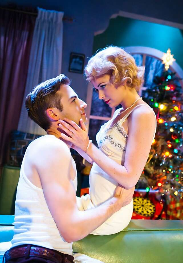 """George (Patrick Alparone) and his new wife Isabel (MacKenzie Meehan) begin to adjust to each other in Tennessee Williams' """"Period of Adjustment"""" at SF Playhouse Photo: Jessica Palopoli"""
