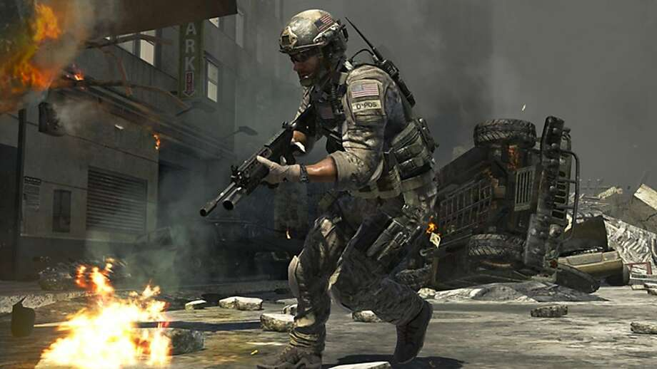 "In this screen shot provided by Activision, ""Call of Duty: Modern Warfare 3,"" the upcoming installment of the popular shooter series, is shown. The latest ""Call of Duty"" video game generated $400 million in sales in its first 24 hours in stores, breaking its own record set this time last year. (AP Photo/Activision) Photo: AP Photo, Activision"
