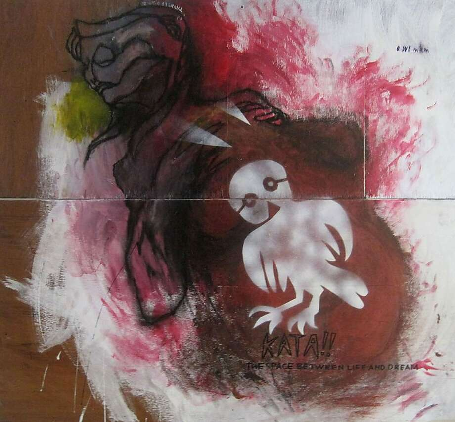 Painter Obi Kaufmann uses the mythical thunderbird as a  portal to dreamlike worlds Photo: Courtesy Of The Artist