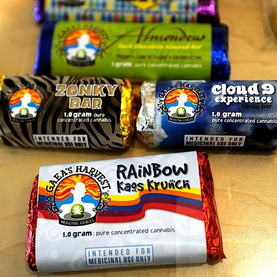 Medicinal marijuana edibles are for sale at Pure Medical Dispensary in Denver, CO, which was one of the first businesses to receive its medical marijuana dispensary license to sell in Denver. Photo: The Denver Post