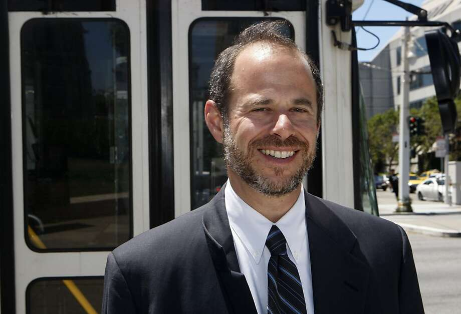 Ed Reiskin smiles after being named the new executive director of Municipal Transportation Agency in San Francisco Calif.,  on July 21, 2011.    Ran on: 08-14-2011 Ed Reiskin is the new MTA executive director. Photo: Audrey Whitmeyer-Weathers, The Chronicle
