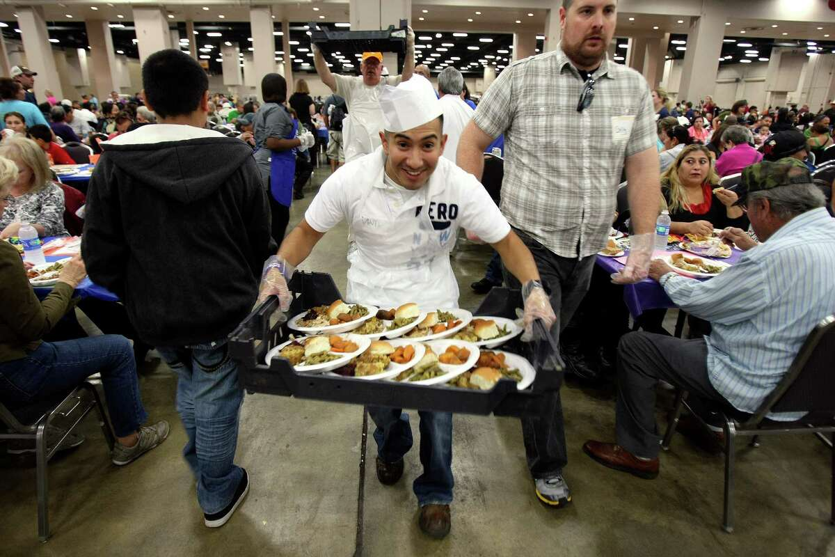 The annual dinner is set for Thanksgiving Day, Nov. 22, at the Convention Center. Raul Jimenez began the dinner with the goal of feeding 100 people, according to the website.