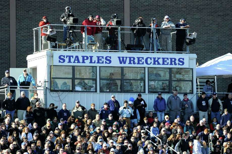 The FCIAC Football Championship game in which Staples High School defeated Greenwich High School 31-27 at Staples, Westport, Thursday afternoon, Nov. 24, 2011. Photo: Bob Luckey / Greenwich Time