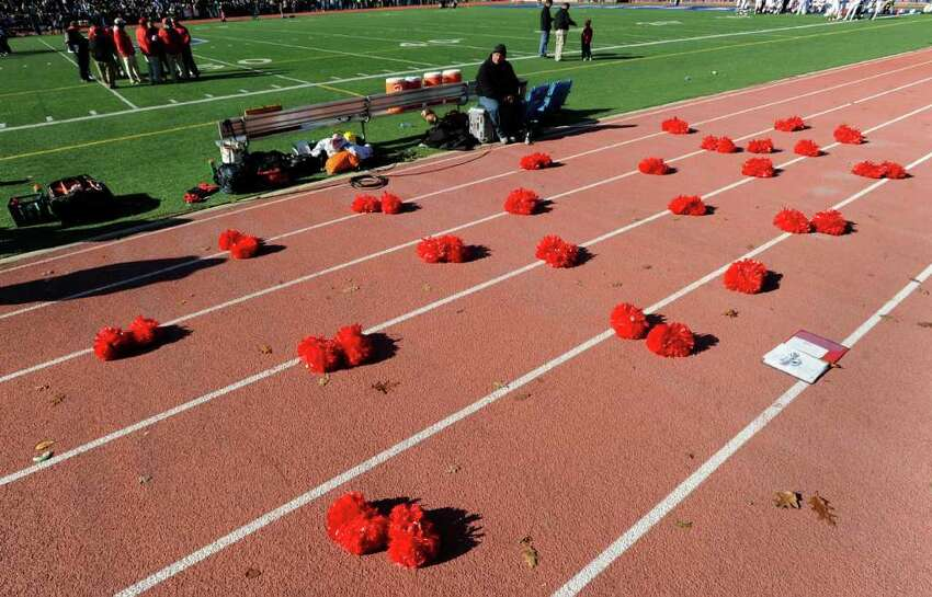 The FCIAC Football Championship game in which Staples High School defeated Greenwich High School 31-27 at Staples, Westport, Thursday afternoon, Nov. 24, 2011.