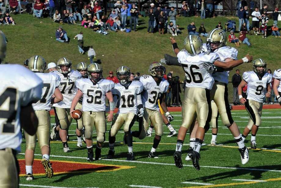 Highlights from Thanksgiving Day boys football action between St. Joseph and Trumbull in Trumbull, Conn. on Thursday November 24, 2011. Photo: Christian Abraham / Connecticut Post