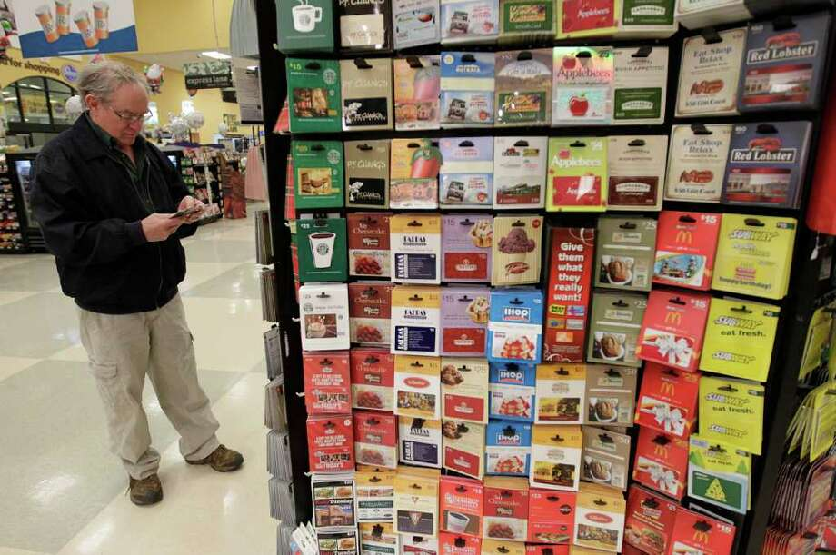 Gift cards are again an often-requested item. Photo: Karen Warren / Houston Chronicle