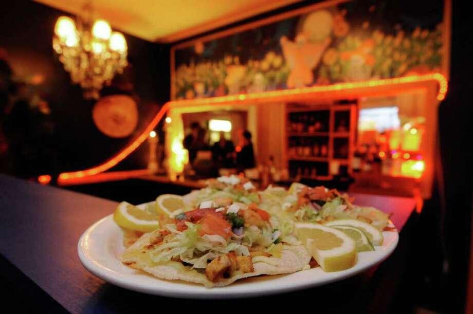 A soft chicken taco plate at Loca Luna Grille in Ballston Spa, NY Tuesday, Nov.22, 2011..( Michael P. Farrell/Times Union) Photo: Michael P. Farrell
